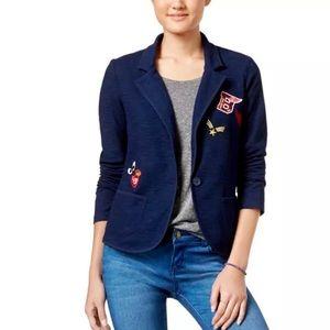 Freshman blue blazer with patches